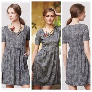 Anthropologie Saturday Sunday gray floral dress